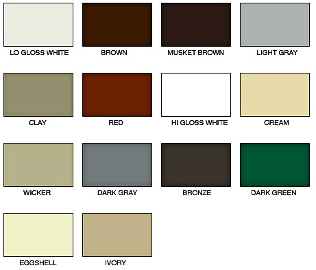 Colors Shown Are Representation Only Slight Variations Display On Actual Metal